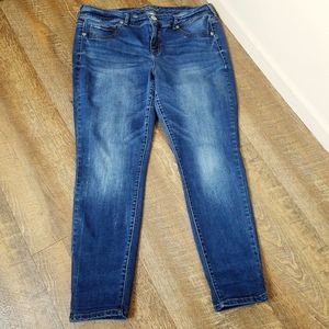 Maurices Dark Wash High Rise Stretch Skinny Jeans